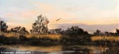 Kieron WIlliamson (a nine-year-old boy from Norfolk nicknamed 'Mini Monet') - 'Marsh Harrier Hunting. Artists For Kids, English Artists, Landscape Pictures, Painting For Kids, Monet, Year Old, Impressionist, Watercolor Art, The Incredibles