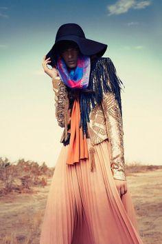 Layered Boho Fashion - The Marie Claire Latin America December 2013 Editorial Stars Lauren Switzer