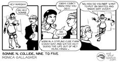 Bonnie N. Collide, Nine to Five #6 | Monica Gallagher's comics, illustration, and freelance work website.