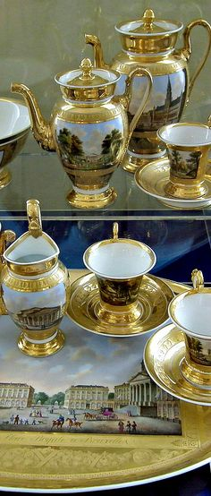 Royal tea set ~ royal residence of Empress Catherine in Pushkin