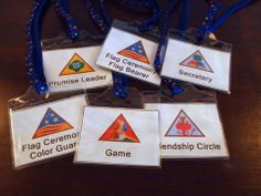 Kaper Badges with Info for the Girls on the back of the badge