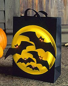 How to make the battery operated bat bag with light up eyes