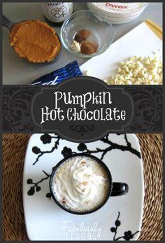 A fun fall version of hot chocolate...PUMPKIN!