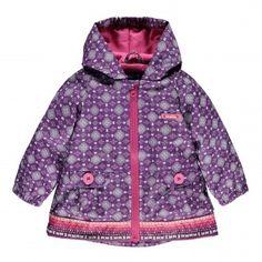 Coated Canvas Hooded Coat / Manteau à capuche en toile enduite Souris Mini Mini, Rain Jacket, Windbreaker, Girl Outfits, Creations, Coat, Girls, Clothing, Jackets