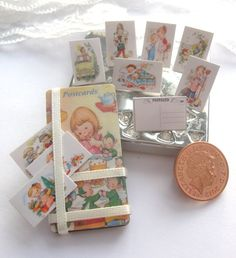 dollhouse mabel  lucie attwell  postcard by Rainbowminiatures