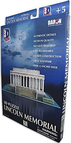 TYDC14 3D Puzzle Lincoln Memorial 42pc.