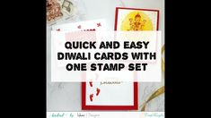 Quick and easy Diwali cards with one stamp set for mass production [DIY ...