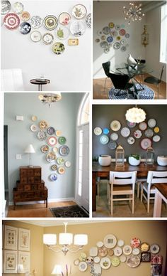 Plate wall for the kitchen