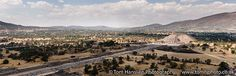 """""""Teotihuacan, Mexico City"""" (147x51cm) Limited edition panoramic landscape travel photograph (C-type) by Tom Hanslien on @Artfinder. Panoramic view from the Pyramid of the Sun at Teotihuacan, Mexico City.   Beautiful C-type print on Fuji Crystal Archive Gloss paper. Digital C-types are real photographic prints, created on light sensitive professional photographic paper."""