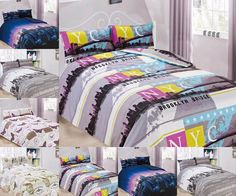 New Microfiber Duvet Cover Sets with Pillow Cases Bedding Sets All Sizes