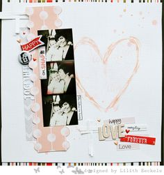 #papercraft #scrapbook #layout      LOVE by Lilith E. at @Studio_Calico