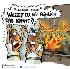 #medilearn #cartoon #feuerwehr #feuer #peinlich #kochen #angebrannt #witzig #comic #lachen