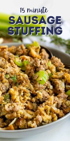 Best Thanksgiving Side Dishes, Stuffing Recipes For Thanksgiving, Thanksgiving 2020, Easy Stuffing Recipe, Homemade Stuffing, Sausage Stuffing, Stuffing Mix, Side Dishes Easy, Side Dish Recipes