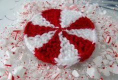 Loom Knit Peppermint Pin Wheel Pattern