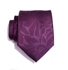 Mens Necktie Purple Flower Silk Tie by TieObsessed on Etsy, $18.95