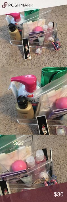 Beauty bundle/ SEPHORA BRUSHES SOLD ❌sale❌ Everything is NWT other than the sephora brushes, which have been used very basic little...... Mary KAY Satin hand kit, soft lips , EOS, 12.6 fl oz of nair,5 oz of keratin infusion, mascara & eye liner(black) urban decay 24 hour eyeshadow,  & more... see pics Makeup Lip Balm & Gloss