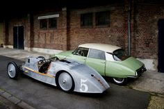 The first and the last automobile André Lefebvre designed,  the Voisin Laboratoire and the Citroën DS19.