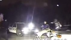 (NDJ) - A routine traffic stop near Kalamazoo, Michigan gave one police officer an encounter he won't soon forget.      The incident took place around 2:00 AM when officer Agent David Miller and his partner stopped a vehicle near Red Roof Inn.        The ...