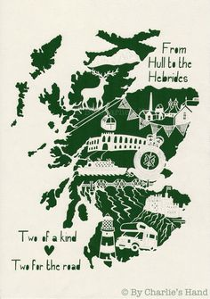 Scotland Papercut By Charlie's Hand