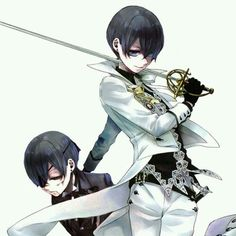 """dorkshadows: """"""""""""I have no need for fake brothers.Ciel as a villain in white and the twin whose blood he desperately needs… """" Black Butler Ciel, Black Butler Kuroshitsuji, Haikyuu, Black Butler Wallpaper, Sebaciel, Animes Wallpapers, Cute Anime Couples, Anime Guys, Anime Characters"""