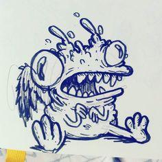 Uuuuuuuuuuuh. No.   #illustration #drawing #inkdrawing #sketchbook #baronfig #drawingoftheday #drawstuff #dtaw #cartooning #creature #creepy #weird #monsters #monstyfwendz #goblins July 24 2017 at 08:50AM