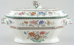 Spode - Chinese Rose colour - Soup Tureen c1960s