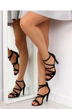 Fashion e-Shop Παπούτσια Πέδιλα Σουέντ ψηλοτάκουνα πέδιλα - Μαύρο - 040 72bc53bbc77