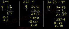 Vedic Mathematics -  Shortcut Method to Divide numbers when Divisor is closer and lesser than power of 10 using Nikhilam Sutra.