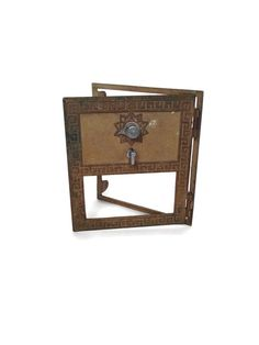 Vintage brass post office box door mailbox industrial salvage National
