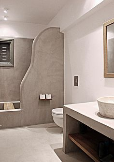 τσιμεντοκονια μπανιο - Αναζήτηση Google Rustic Bathroom Designs, Bathroom Interior Design, Tadelakt, Concrete Furniture, Spa Rooms, Home Upgrades, Bathroom Floor Tiles, Living Room With Fireplace, Fashion Room