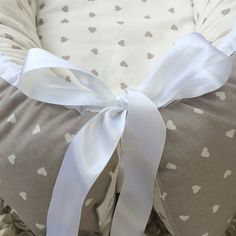 Wool babynest with hearts, Leonora