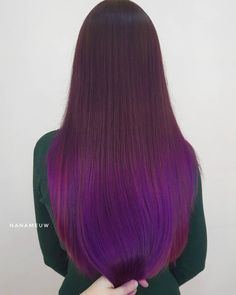 Gorgeous long plum colored ombre by Plum Purple Hair, Pink Hair, Eye Colors, Hair Colors, Colourful Hair, Plum Color, Amazing Hair, Spectrum, Hair Ideas