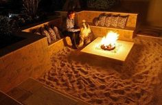 Backyard Beach Fire Pit Image credits: unknown