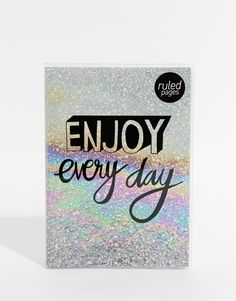 Paperchase+Enjoy+Everyday+Glitter+Notebook
