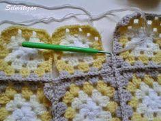 ELİMDEN GELENLER: İplik Koparmadan Motif Birleştirme Crochet Coat, Crochet Patterns, Elsa, Blanket, How To Make, Bedspreads, Crocheting, Crochet Pattern, Blankets