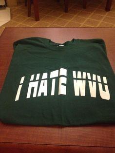 Marshall Thundering Herd Football I Hate WVU T-Shirt, Smoke Free Home, Brand New #Jerzees #MarshallThunderingHerd