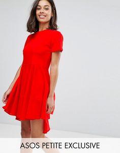 ¡Consigue este tipo de vestido informal de Asos Petite ahora! Haz clic para  ver los detalles. Envíos gratis a toda España. Vestido skater estilo  camiseta ...
