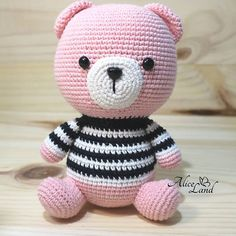 Educational and interesting ideas about amigurumi, crochet tutorials are here. Crochet Bear Patterns, Amigurumi Patterns, Doll Patterns, Crochet Baby Toys, Free Crochet, Knitted Teddy Bear, Sock Toys, How To Start Knitting, Cute Teddy Bears