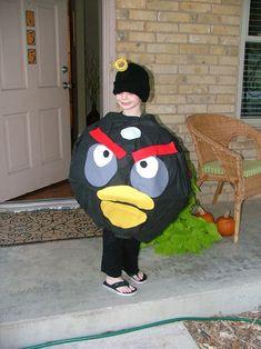 angry bird costume tutorial.  no sew!