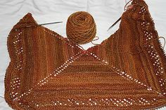 Ravelry: Barbara's Spinners Simple Shawl pattern by Barbara diJeannene