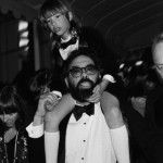 Sofia Coppola riding on her dad's shoulders at her first Cannes Film Festival in 1979
