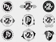 Designed 2 Fit logo concepts