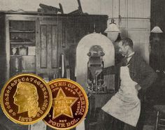"""Did you know...  That in 1879 and 1880, the United States minted two different versions of a $4 gold coin known as the """"Stella"""". Only 425 example coins were minted, making the Stella one of the rarest and most valuable gold coins the U.S. has ever produced.  A few example coins were presented to members of Congress for their consideration - which were promptly spent in brothels. Many Stellas were mounted as jewelry and worn around the necks of madams."""
