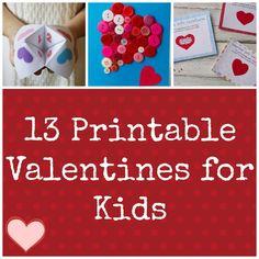 Valentine Ideas for Kids: 13 Printable Valentines
