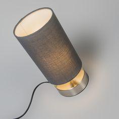 Table Lamp Milo 2 Round Grey