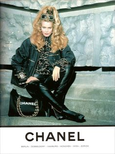 Claudia Schiffer for Chanel // Elle Germany Sep 1992