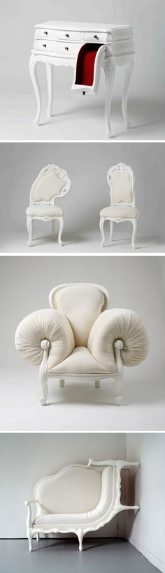 The strange and surreal furniture designer and Korean artist Lila Jang studied design and Fine Arts in Paris in Seoul, and has already participated in numerous exhibitions worldwide.