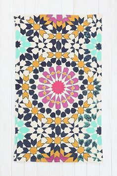 Magical Thinking Flower-Tile Handmade Rug