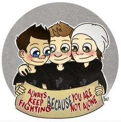 """""""Always keep fighting because you are not alone."""" ♥ - My Name's Dean Winchester. Supernatural Wallpaper, Supernatural Tv Show, Winchester Brothers, Dean Winchester, Depression Quotes, Keep Fighting, Love Yourself First, Cartoon Pics, Alone"""