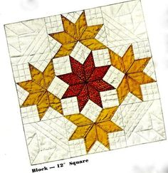 Vintage 1942 This pattern is an adaptation of a popular design that originated in New Orleans. It was named LeMoyne Star in honor of Jacques LeMoyne. Lone Star Quilt, Star Quilt Blocks, Star Quilts, Mini Quilts, Vintage Quilts Patterns, Star Quilt Patterns, Antique Quilts, Doll Patterns, Quilting Tutorials